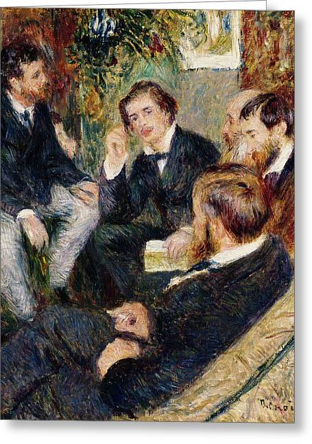 Conversations Greeting Cards - The Artists Studio Rue Saint Georges Greeting Card by Pierre Auguste Renoir