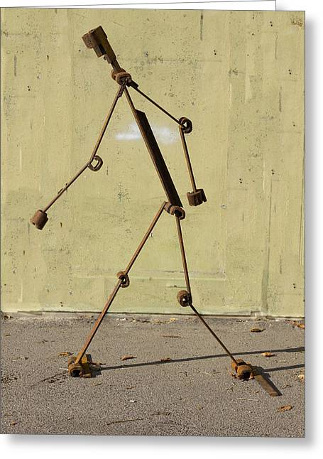 Steel Sculptures Greeting Cards - The ARTWALKER Greeting Card by Reiner Poser