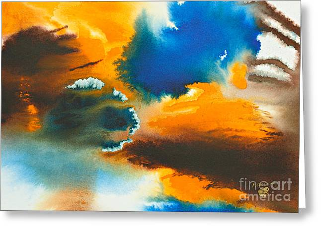 Recently Sold -  - Abstractions Greeting Cards - The Atoll Greeting Card by Phil Albone