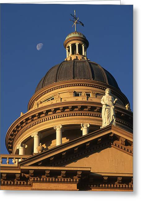 The Auburn, California Courthouse Greeting Card by Phil Schermeister