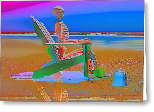 Sand Castles Digital Art Greeting Cards - The Audience is Listening Greeting Card by Betsy A  Cutler