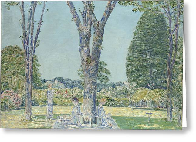 East Hampton Paintings Greeting Cards - The Audition Greeting Card by Childe Hassam