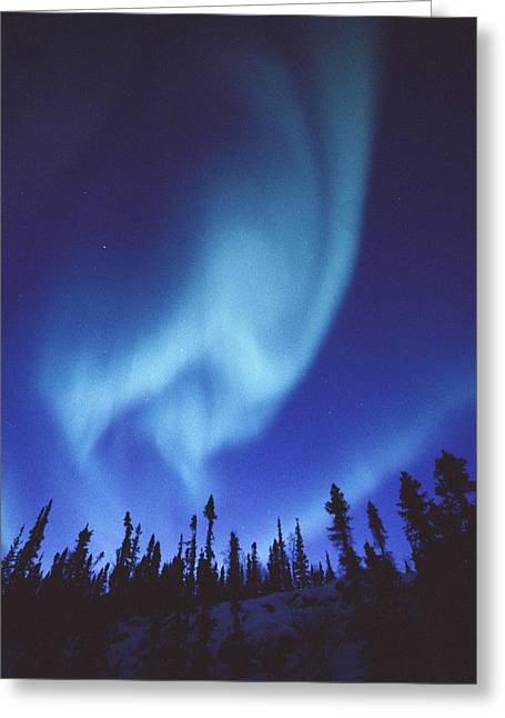 Northwest Territories Greeting Cards - The Aurora Borealis Creates Fantastic Greeting Card by Paul Nicklen