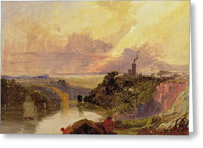 Romanticism Greeting Cards - The Avon Gorge at Sunset  Greeting Card by Francis Danby