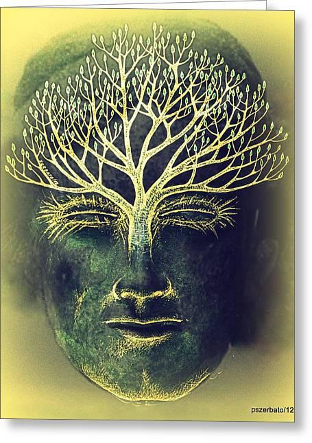 The Awakening Of The Self-awareness Equinox Greeting Card by Paulo Zerbato