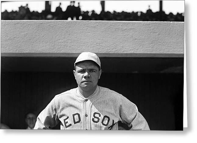 American Icon Babe Ruth Greeting Cards - The Babe - Red Sox Greeting Card by International  Images