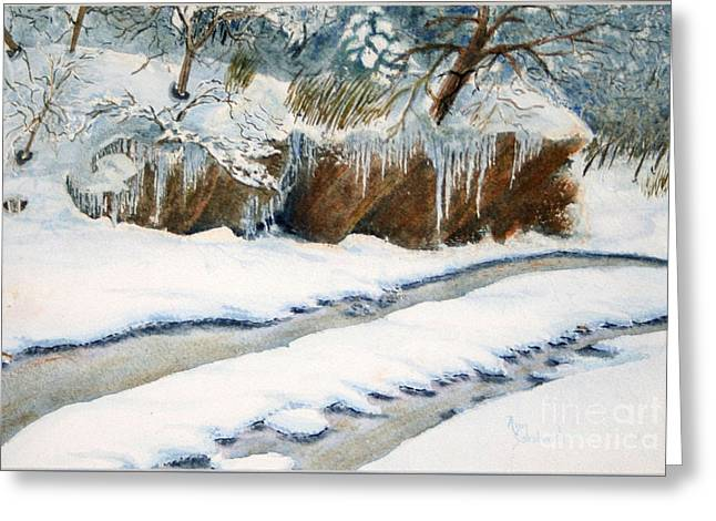 Sokolovich Paintings Greeting Cards - The Back Road Greeting Card by Ann Sokolovich