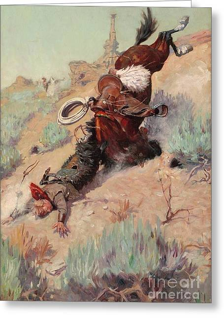 Western Life Greeting Cards - The Badger Hole Greeting Card by Pg Reproductions
