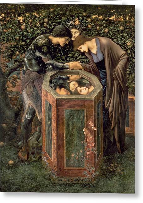 1833 Greeting Cards - The Baleful Head Greeting Card by Sir Edward Burne-Jones