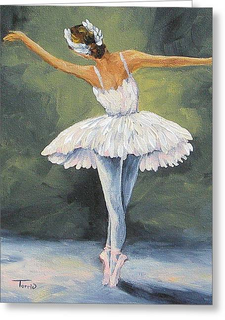 Ballet Dancers Paintings Greeting Cards - The Ballerina II   Greeting Card by Torrie Smiley