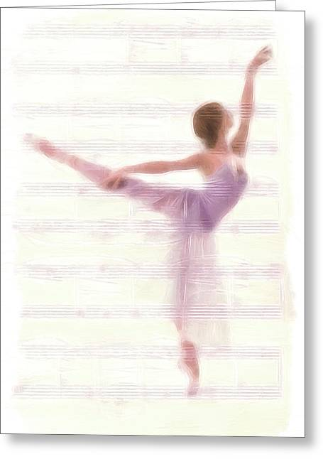 Ballet Dancers Greeting Cards - The Ballerina Greeting Card by Stefan Kuhn