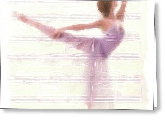 The Ballerina Greeting Card by Stefan Kuhn