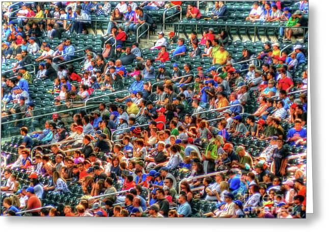 Baseball Game Digital Art Greeting Cards - The Ballgame Greeting Card by Jeff Breiman