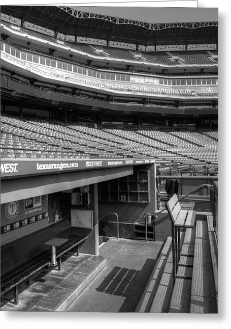 World Series Art Print Greeting Cards - The Ballpark In Arlington Greeting Card by Ricky Barnard