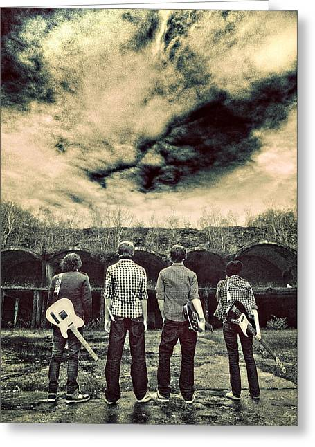 Rock Groups Photographs Greeting Cards - The Band Has Arrived Greeting Card by Meirion Matthias