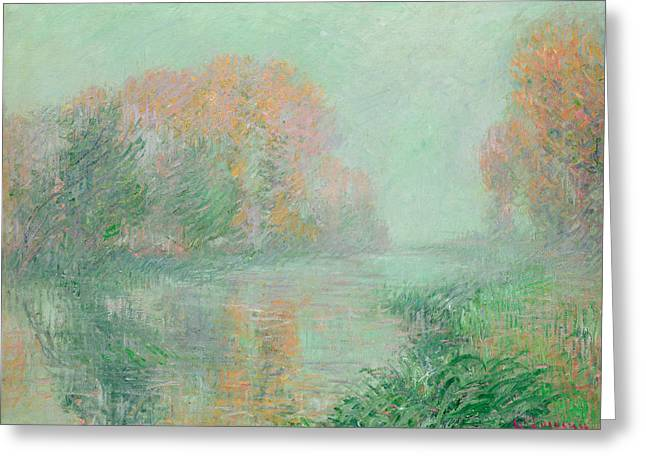 The Bank Greeting Cards - The Banks of the Eure Greeting Card by Gustave Loiseau