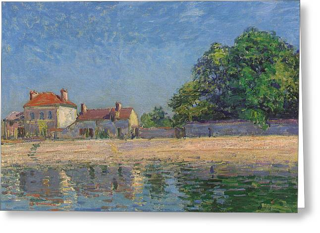 The Bank Greeting Cards - The Banks of the Loing Greeting Card by Alfred Sisley