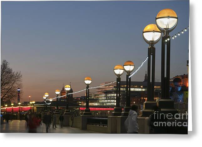 London Greeting Cards - The banks of the river Thames Greeting Card by Andrew  Michael