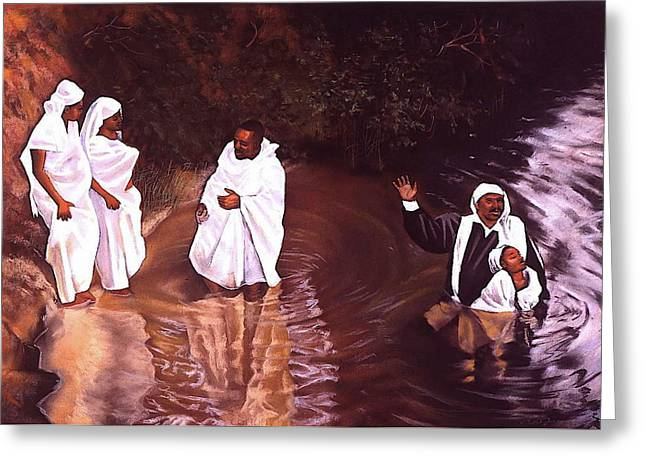 Forgiven Greeting Cards - The Baptism Greeting Card by Curtis James