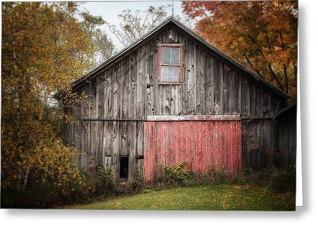 Pa Barns Greeting Cards - The Barn with the Red Door Greeting Card by Lisa Russo