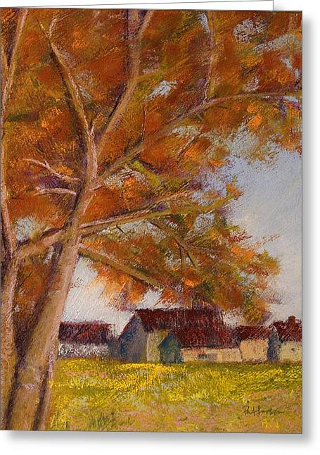Barn Pastels Greeting Cards - The Barns Greeting Card by David Patterson