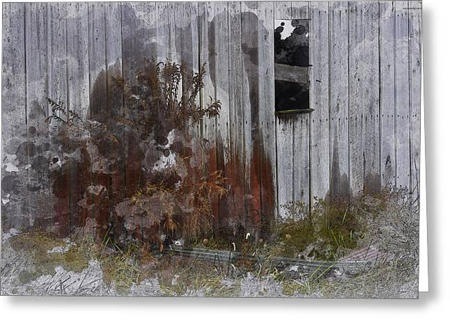 Barn Digital Greeting Cards - The Barnyard Greeting Card by Ron Jones