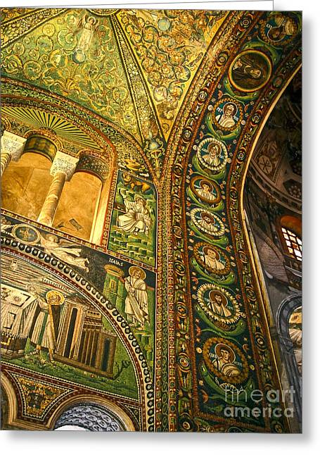 Gregory Dyer Greeting Cards - The Basilica di San Vitale in Ravenna - 03 Greeting Card by Gregory Dyer