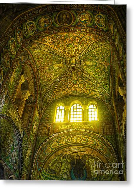 Gregory Dyer Greeting Cards - The Basilica di San Vitale in Ravenna Greeting Card by Gregory Dyer