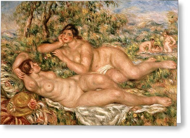 Renoir Greeting Cards - The Bathers Greeting Card by Pierre Auguste Renoir
