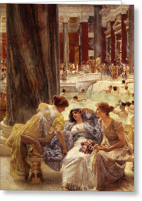 Classical Greeting Cards - The Baths of Caracalla Greeting Card by Sir Lawrence Alma-Tadema
