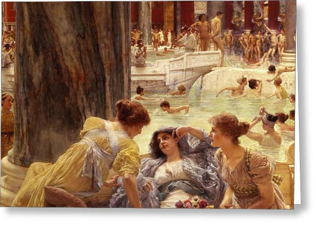 The Baths of Caracalla Greeting Card by Sir Lawrence Alma-Tadema