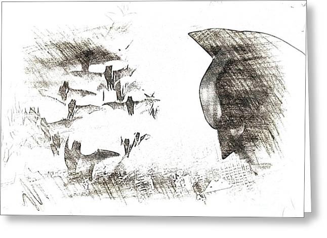 the Bats Greeting Card by Hywel Morgan