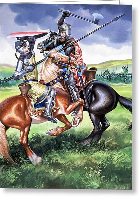 Blow Greeting Cards - The Battle of Bannockburn Greeting Card by Ron Embleton