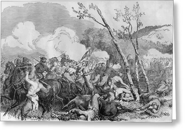 Confederate Digital Art Greeting Cards - The Battle of Bull Run Greeting Card by War Is Hell Store