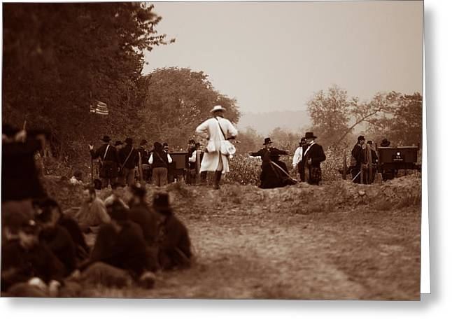Franklin Tn Greeting Cards - The Battle of Franklin Greeting Card by Mark Currier