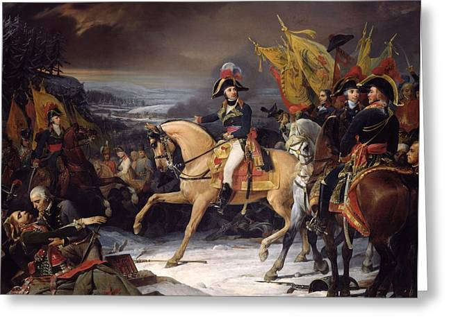 The Horse Greeting Cards - The Battle of Hohenlinden Greeting Card by Henri Frederic Schopin
