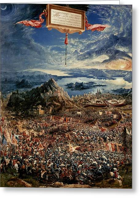 Persian Greeting Cards - The Battle of Issus Greeting Card by Albrecht Altdorfer