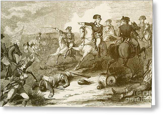 New Jersey History Greeting Cards - The Battle Of Monmouth Court House Greeting Card by Photo Researchers