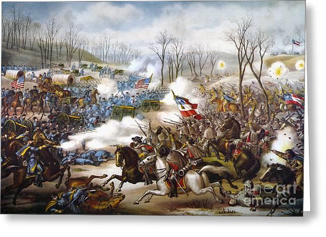 Pea Ridge Greeting Cards - The Battle Of Pea Ridge, Greeting Card by Granger