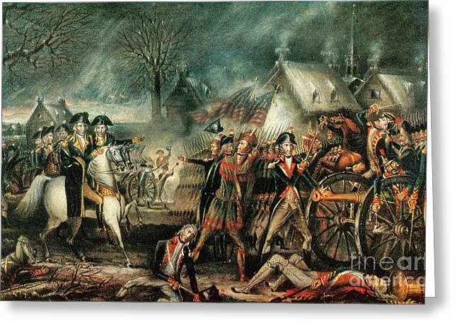 Continental Army Victory Greeting Cards - The Battle Of Trenton 1776 Greeting Card by Photo Researchers