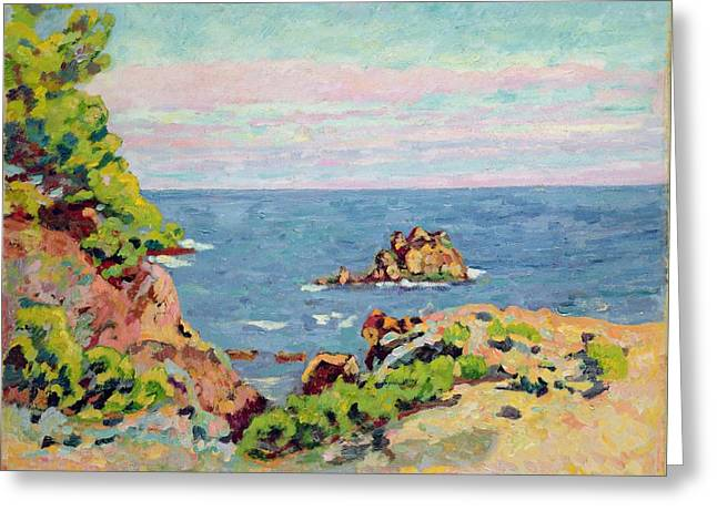 The Trees Greeting Cards - The Baumettes Greeting Card by Jean Baptiste Armand Guillaumin