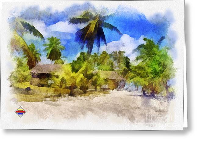 Manual Paintings Greeting Cards - The Beach 01 Greeting Card by Vidka Art