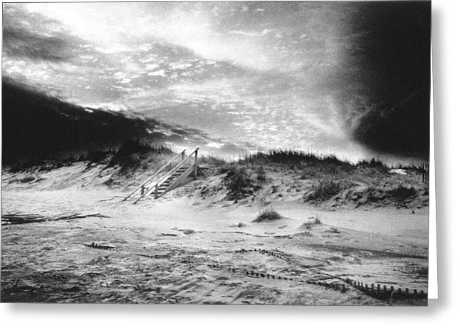 The Beach at Bridgehampton Greeting Card by Simon Marsden
