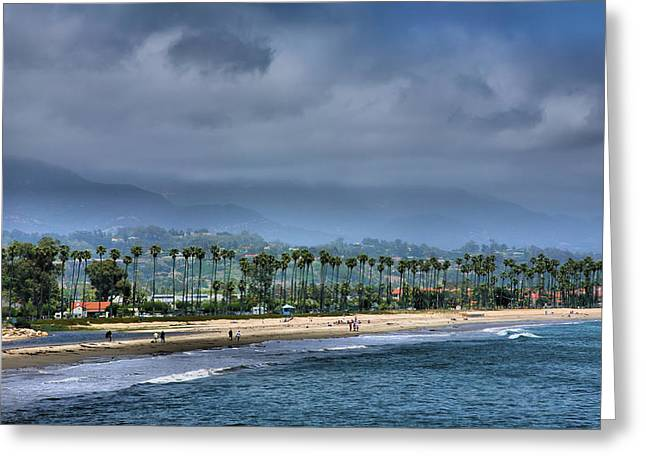 Travel Photography Greeting Cards - The Beach At Santa Barbara Greeting Card by Steven Ainsworth