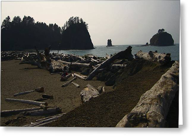 Monolith Greeting Cards - The Beach At Twilight Greeting Card by Kym Backland