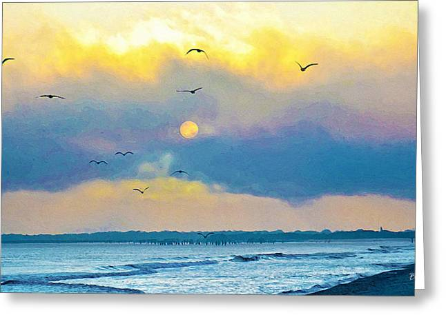 Wildwood Greeting Cards - The Beach Greeting Card by Bill Cannon