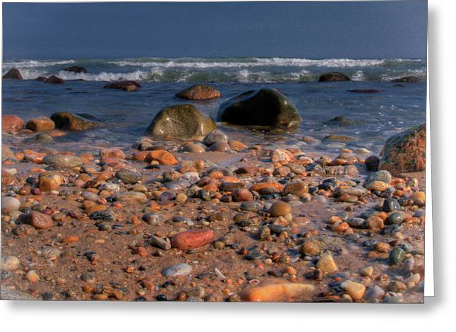 The Beach Greeting Card by David Hahn