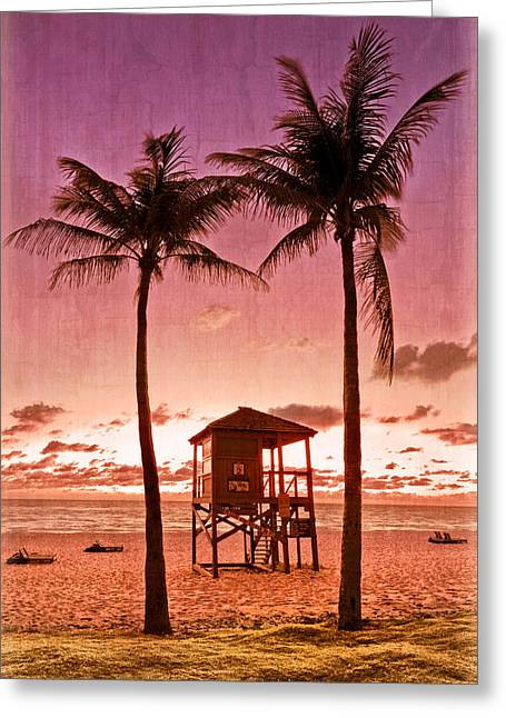 Surfing Photos Greeting Cards - The Beach Greeting Card by Debra and Dave Vanderlaan
