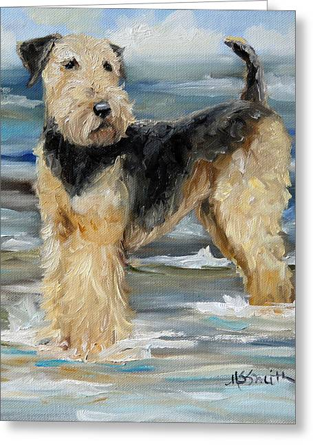Sea Dog Framed Prints Greeting Cards - The Beached Dale Greeting Card by Mary Sparrow