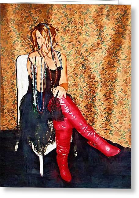 Cindy Nunn Greeting Cards - The Bead Seller Greeting Card by Cindy Nunn